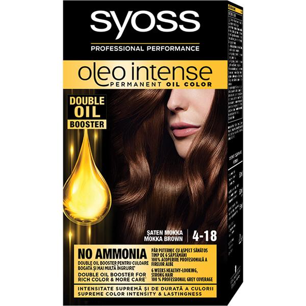 Vopsea de par SYOSS Color Oleo, 4-18 Saten Mokka, 115ml