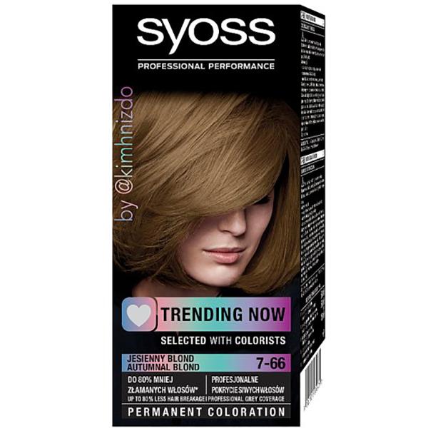 Vopsea de par SYOSS Color Base Line, 7-66 Blond tomnatic, 115ml