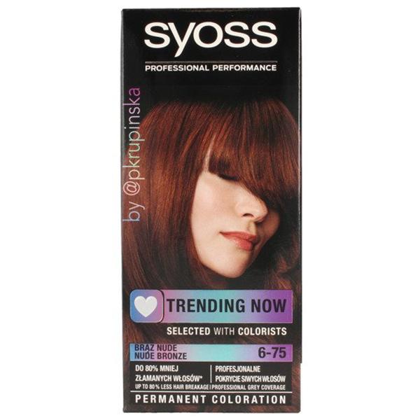 Vopsea de par SYOSS Color Base Line, 6-75 Bronz nude, 115ml