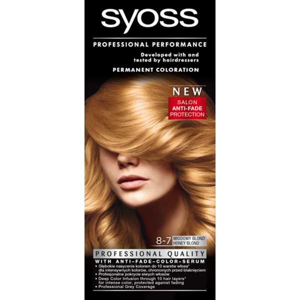 Vopsea de par SYOSS Color Base Line, 8-7 Blond miere, 115ml