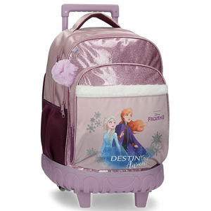 Ghiozdan cu troler DISNEY Frozen Destiny Awaits 25529.61, roz-mov