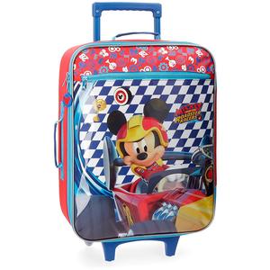 Troler copii DISNEY Mickey Race, 55 cm, rosu-albastru