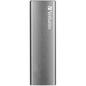 SSD portabil VERBATIM VX500, 120GB, USB 3.1 Gen 2, argintiu