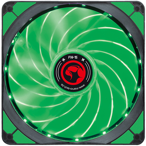 Ventilator MARVO FN-15, led verde, 140mm, 1500rpm