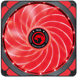 Ventilator MARVO FN-15, led rosu, 140mm, 1500rpm