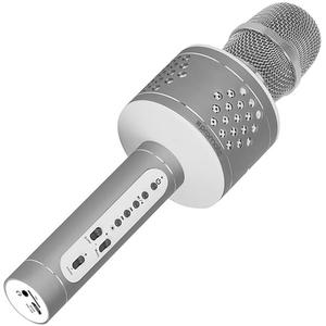 Microfon si boxa portabila pentru Karaoke PROMATE VOCALMIC-3, BT, Acumulator, gri