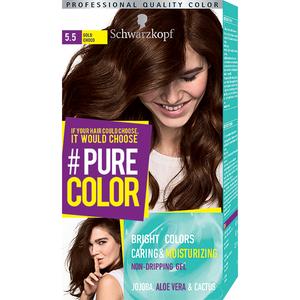 Vopsea de par SCHWARZKOPF Pure Color, 5.5 Ciocolata aurie, 142.5ml