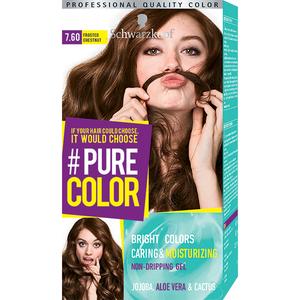 Vopsea de par SCHWARZKOPF Pure Color, 7.6 Castaniu rece, 142.5ml
