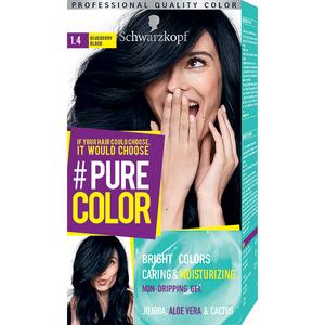 Vopsea de par SCHWARZKOPF Pure Color, 1.0 Negru pana corbului, 142.5ml