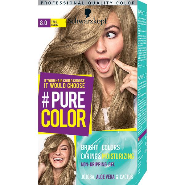 Vopsea de par SCHWARZKOPF Pure Color, 8.0 Blond, 142.5ml
