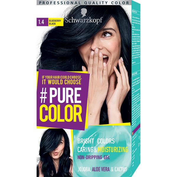 Vopsea de par SCHWARZKOPF Pure Color, 1.4 Negru afina, 142.5ml