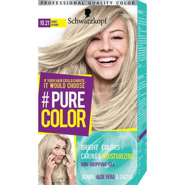 Vopsea de par SCHWARZKOPF Pure Color, 10.21 Baby blond, 142.5ml