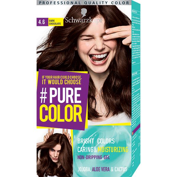 Vopsea de par SCHWARZKOPF Pure Color, 4.6 Ciocolata neagra, 142.5ml