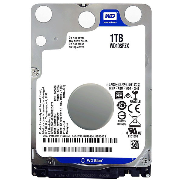 Hard Disk laptop WESTERN DIGITAL Blue 1TB, SATA3, 5400rpm, WD10SPZX