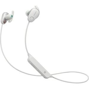 Casti SONY WI-SP600NW, Bluetooth, NFC, In-Ear, Microfon, Noise Cancelling, Rezistente la stropire, alb