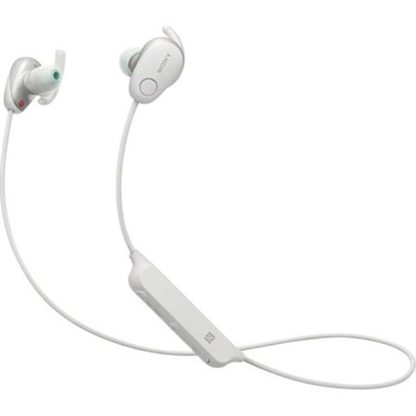 Casti audio sport in-ear cu microfon SONY WI-SP600NW, Rezistente la stropire, Noise Cancelling, Bluetooth, NFC, Alb