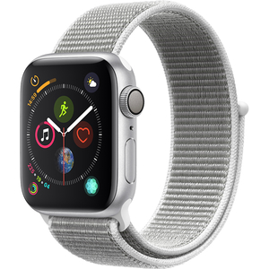 APPLE Watch Series 4 40mm Silver Aluminium Case, Seashell Sport Loop