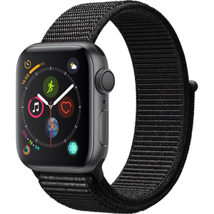 APPLE Watch Series 4 40mm Space Grey Aluminium Case, Black Sport Loop