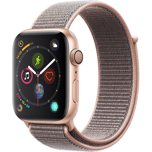 APPLE Watch Series 4 44mm Gold Aluminium Case, Pink Sand Sport Loop