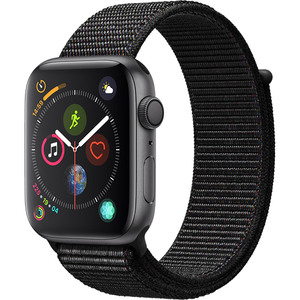 APPLE Watch Series 4 44mm Space Grey Aluminium Case, Black Sport Loop
