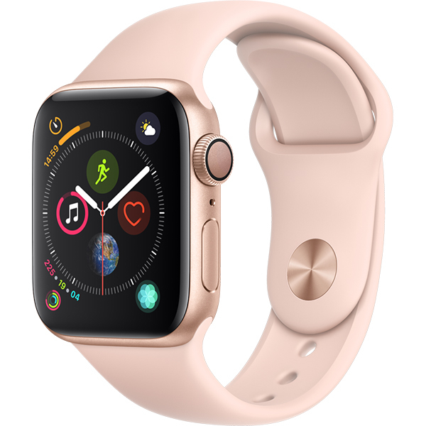 APPLE Watch Series 4 40mm Gold Aluminium Case, Pink Sand Sport Band