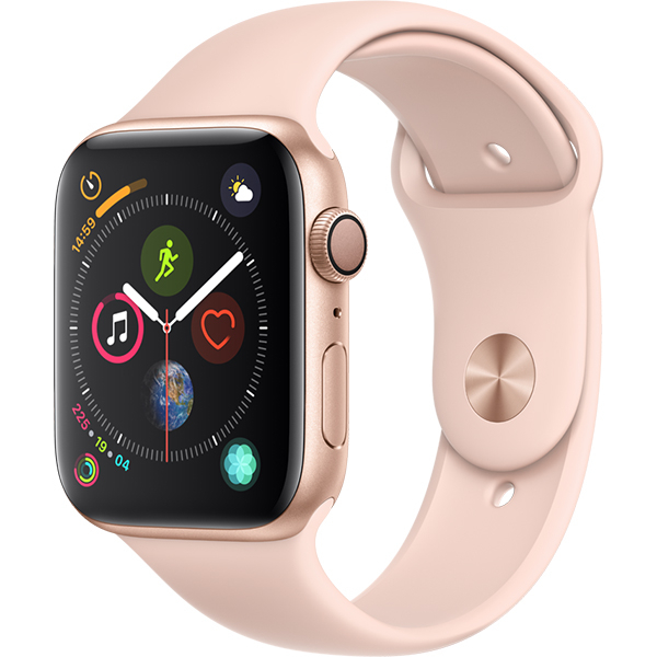 APPLE Watch Series 4 44mm Gold Aluminium Case, Pink Sand Sport Band