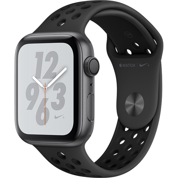 APPLE Watch Series 4 NIKE+ 44mm Space Grey Aluminium Case, Anthracite/Black Sport Band
