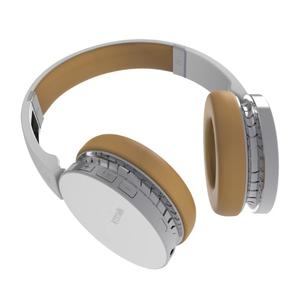 Casti Bluetooth over-ear cu microfon, PROMATE Waves, alb