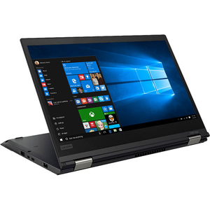 "Laptop 2 in 1 LENOVO ThinkPad X380 Yoga, Intel Core i7-8550U pana la 4.0GHz, 13.3"" Full HD Touch, 8GB, SSD 512GB, Intel UHD Graphics 620, Windows 10 Pro, Negru"