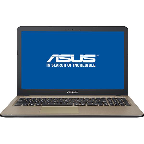 "Laptop ASUS X540UA-GQ1385, Intel Pentium 4417U pana la 2.3GHz, 15.6"" HD, 4GB, 1TB, Intel HD Graphics 610, Endless OS, Chocolate Black"