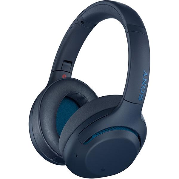 Casti SONY WHXB900N, Bluetooth, NFC, Over-Ear, Microfon, Noise Cancelling, albastru