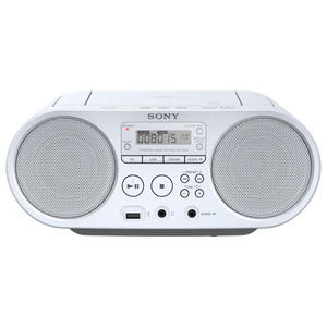 Radio CD portabil SONY ZS-PS50, USB, alb