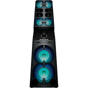Sistem audio High Power SONY MHCV90DW, 2000W, Hi-Fi, Bluetooth, NFC, Wi-Fi, Party Music, Mega BASS, Negru