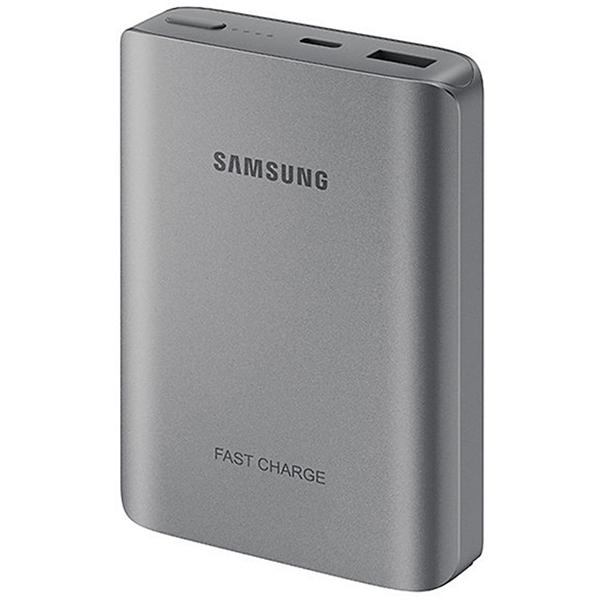 Acumulator extern universal, SAMSUNG EBPN930CSE Fast Charging, 10200 mAh, Dark Grey