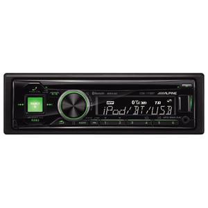 Radio CD auto ALPINE CDE-173BT, 4x50W, USB, Bluetooth, afisaj rosu/verde