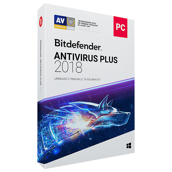 BITDEFENDER Antivirus Plus 2018, 1 an, 2 PC, Retail