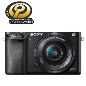 Aparat foto Mirrorless SONY Alpha A6000, 24.3 MP, Wi-Fi, negru + Obiectiv 16-50mm