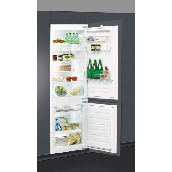 Combina frigorifica incorporabila WHIRLPOOL ART 6502/A+, LessFrost, 273 l, H 177 cm, Clasa A+, inox