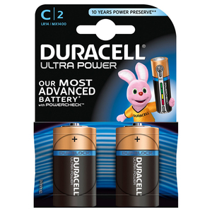 Baterii DURACELL C Ultra Power, 2 bucati