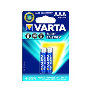 Baterii alcaline High Energy VARTA AAA, 2 bucati