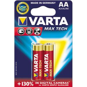 Baterii alcaline AA VARTA Max-Tech, 2 bucati
