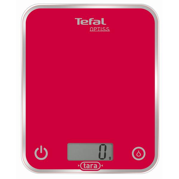 Cantar de bucatarie TEFAL Optiss Glass BC5003, 5kg, rosu