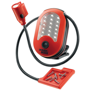 Lanterna magnetica cu LED-uri BLACK & DECKER BDHL18, 18 LED-uri, rosu