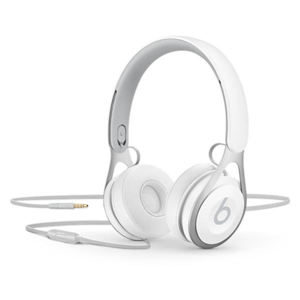Casti BEATS EP, Cu Fir, On-Ear, Microfon, alb