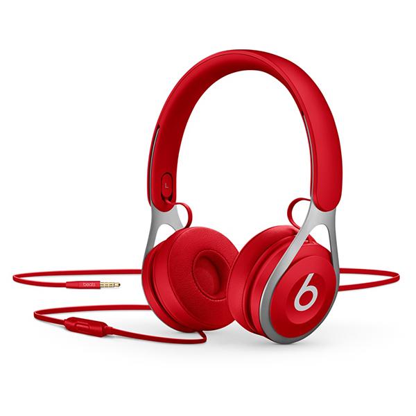 Casti BEATS EP, Cu Fir, On-Ear, Microfon, rosu