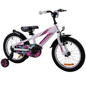 """Bicicleta copii Omega Gerald 2018, 16"""", alb"""