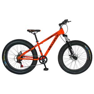 """Bicicleta FAT BIKE VELORS V2677A, 26"""", cadru otel, portocaliu"""