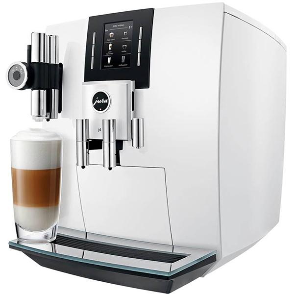 Espressor automat JURA J6 15165, rasnita aroma-g3, 2.1 l, 15 bari, alb