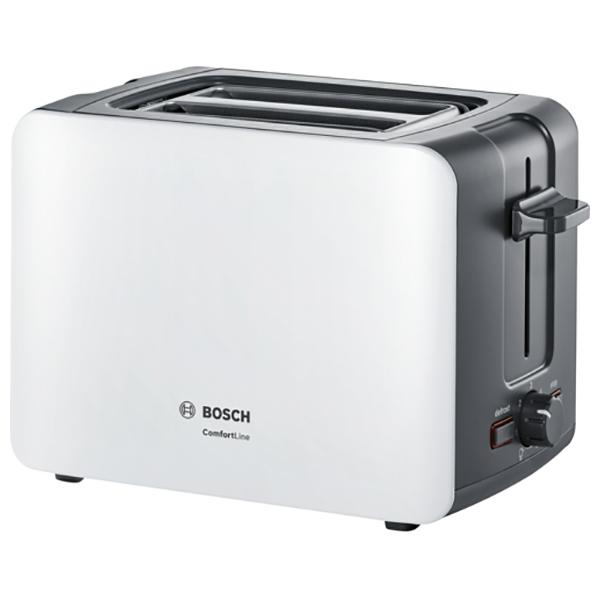 Prajitor de paine BOSCH ComfortLine Compact toaster TAT6A111, 915-1090W, Alb