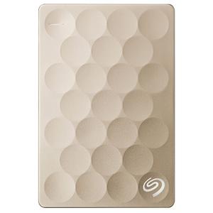 Hard Disk Drive portabil SEAGATE Backup Plus Ultra Slim STEH1000201, 1TB, USB 3.0, Gold